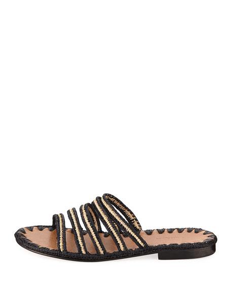 Asmaa Woven Strappy Slide Sandal