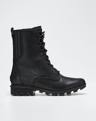 Phoenix Waterproof Leather Combat Boots