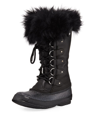 Joan of Arctic Lux Waterproof Cold-Weather Glitter Boot with Fur