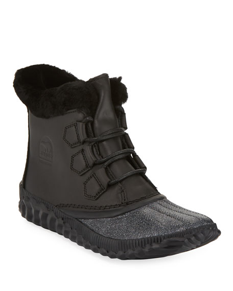 Out N About Plus Lux Waterproof Boot With Genuine Shearling Trim in Black