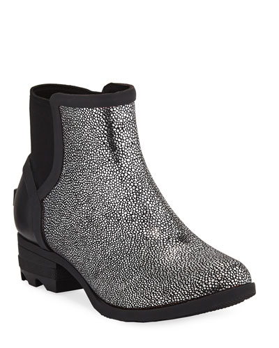 Janey Metallic Waterproof Rubber Chelsea Boots