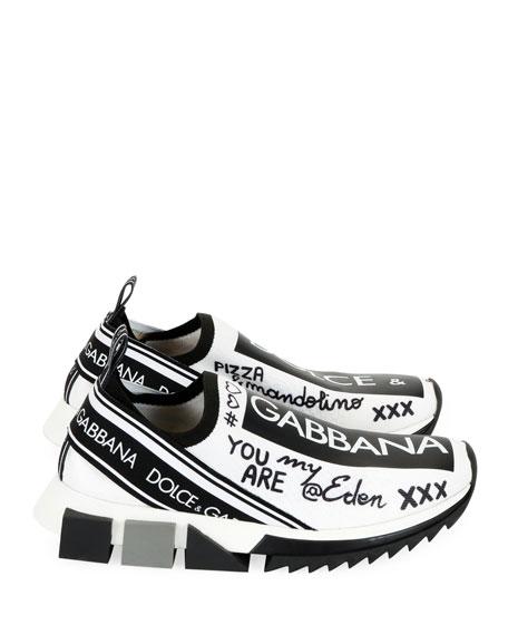 Sorrento Graffiti Knit Trainer Sneakers