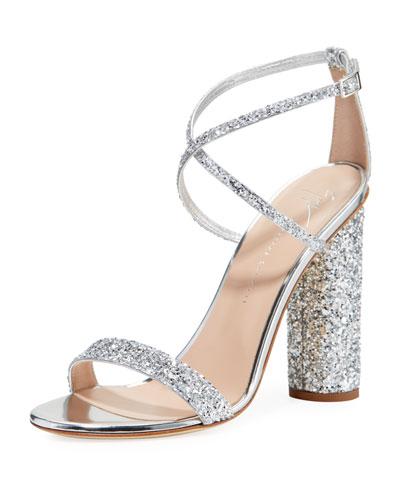 Glitter Crisscross High Sandals