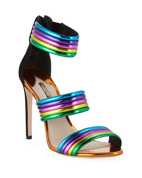 Joy Colorblock Neon Sandals