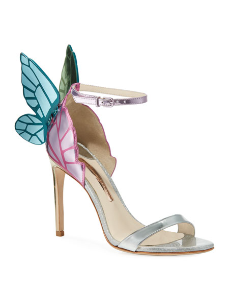 Chiara Butterfly Wing Multi Metallic Leather Sandals