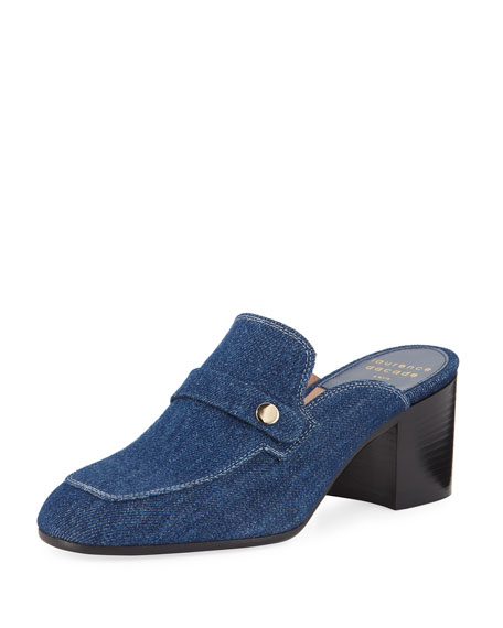 Laurence Dacade Thelma Denim Penny Loafer Mules