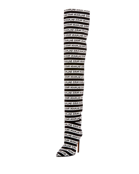 Janis Logo Over-The-Knee Boots