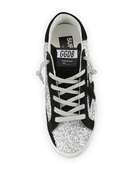 6c42a97ec21 Superstar Glittered Platform Sneakers