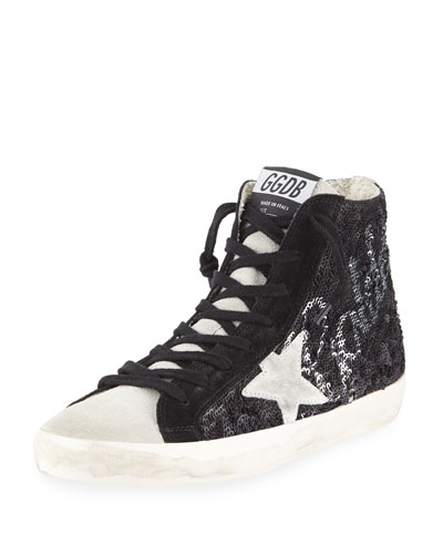 Francy Sequined High-Top Sneakers