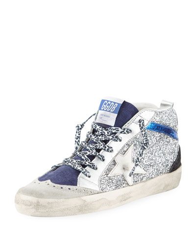 Star Glitter Mid-Top Sneakers
