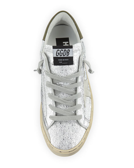 42600678d54a Golden Goose Hi Star Metallic Leather Platform Sneakers