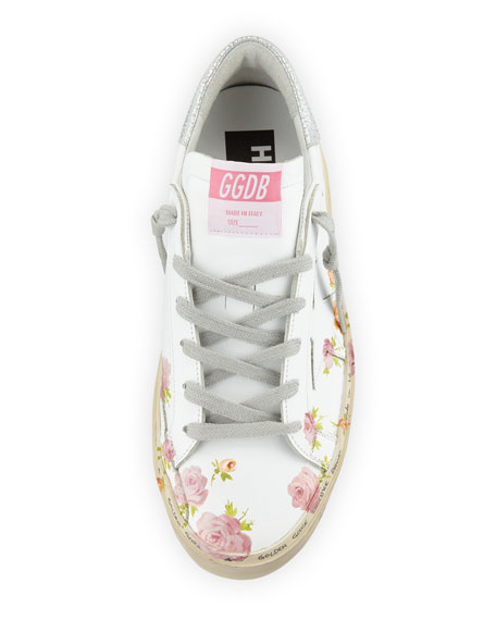 Hi Star Floral-Print Leather Platform Sneakers