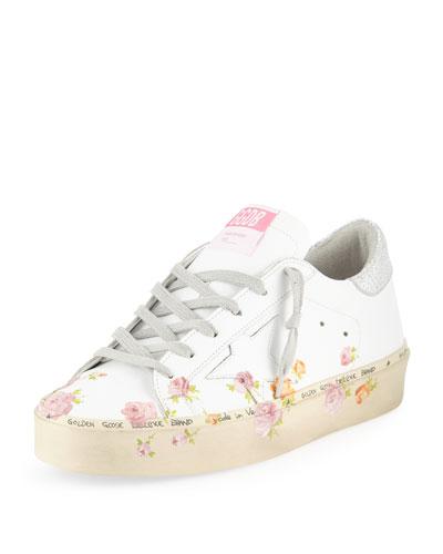 Hi Star Floral-Print Leather Platform Sneakers