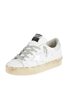 Hi Star Leather Platform Sneakers by Golden Goose