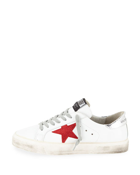 Golden Goose May Leather Red-Star