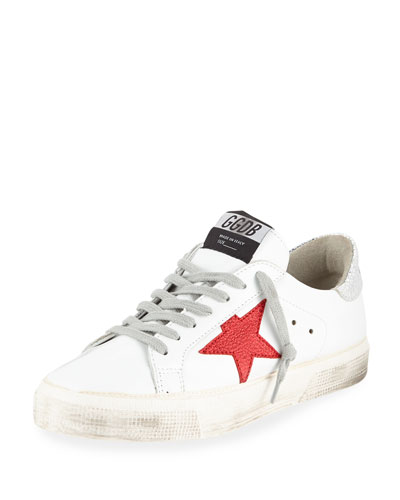 May Leather Red-Star Sneakers