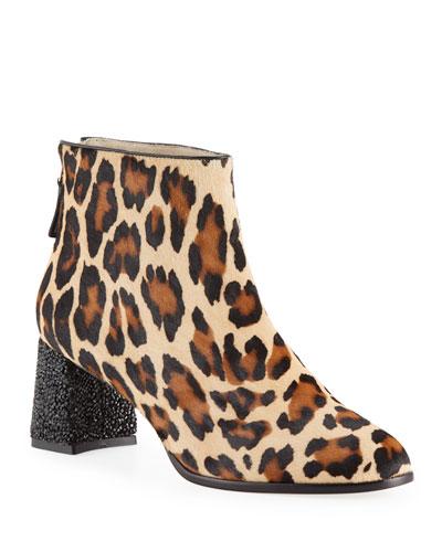 Stella Leopard-Print Ankle Boots