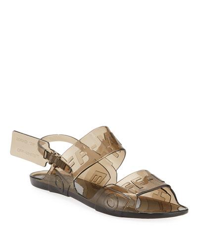Zip Tie Jelly Sandals