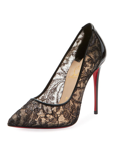 Follies Lace Red Sole Pumps