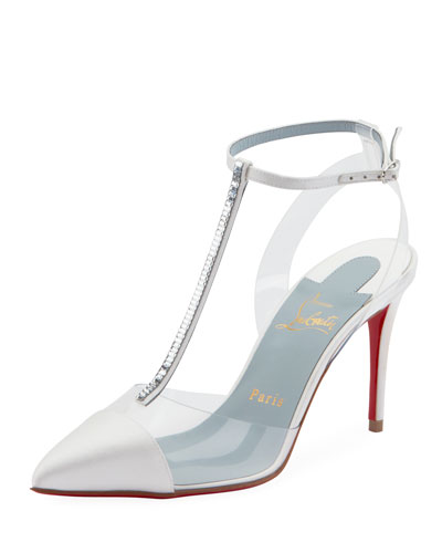 Nosy Strass T-Strap Red Sole Pumps