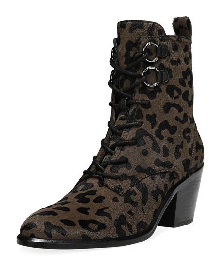 6c470d1c54 Diane von Furstenberg Dakota Leopard Lace-Up Boots