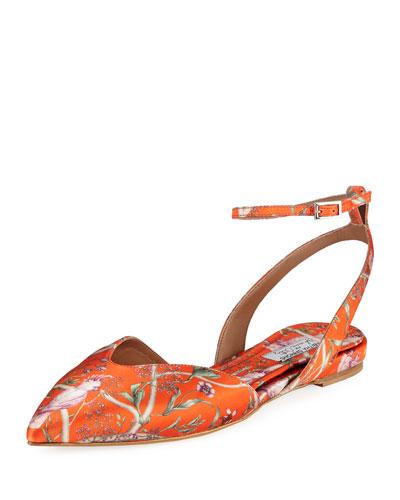 Vera Jacquard Ankle Flats