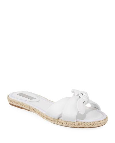 Heli Slide Flat Sandals, White