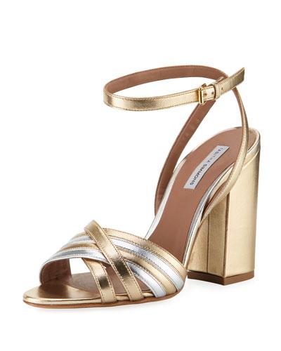 Toni Mixed Metallic Sandals