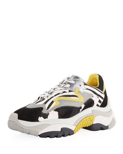 Addict Zebra Mixed Colorblock Sneakers