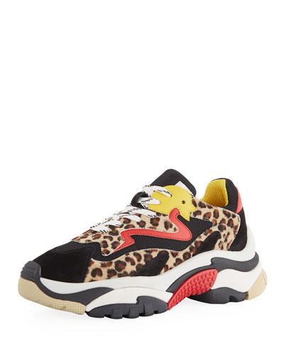 Addict Mixed Leopard Colorblock Sneakers