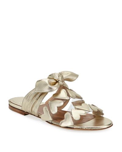 Teresa Heart Metallic Sandals
