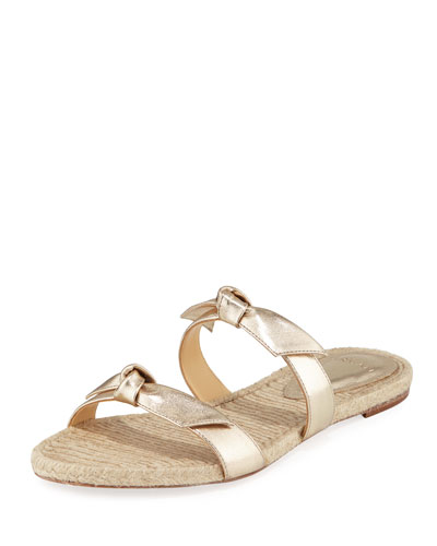 Clarita Knotted Espadrille Sandals  Gold