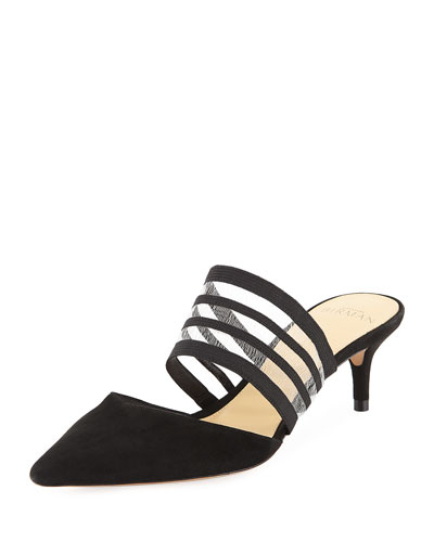 Shadow Pointed Slide Mules