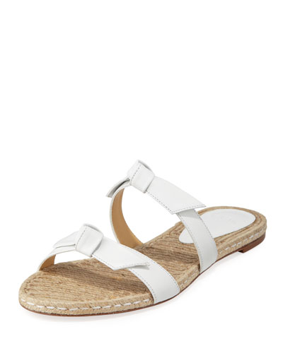 Clarita Knotted Espadrille Sandals  White