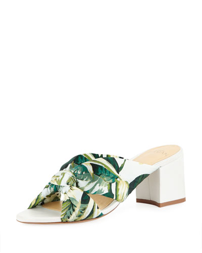 Kacey Kotted Fabric Mule Sandals