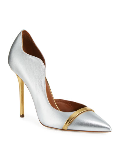 Morissey 100mm Metallic Leather Pumps