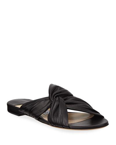 898c5b90d627 Lela Flat Napa Leather Slide Sandals Quick Look. Jimmy Choo