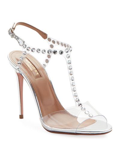 Shine Embellished PVC Sandals