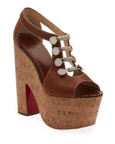 7e12c86144f21 Ordonanette 160 Leather Platform Red Sole Sandals