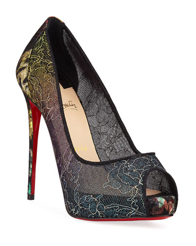 8a677ccf6a0c Very Lace 120mm Rainbow Peep-Toe Red Sole Pumps Quick Look. Christian  Louboutin