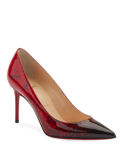 4610bd49e072 Decollete 554 Mid-Heel Patent Degraloubi Red Sole Pumps Quick Look. Christian  Louboutin