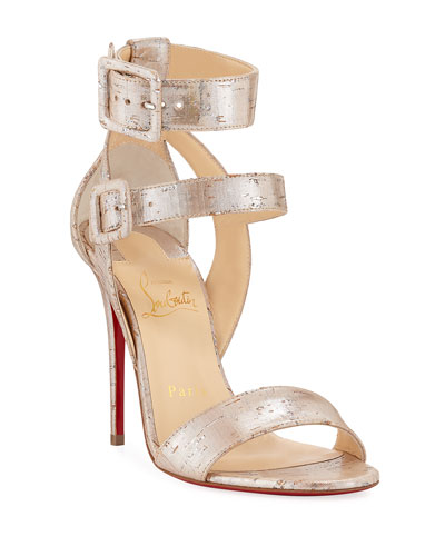8d1ab1750846 Multipot 100 Cork Red Sole Sandals Quick Look. Christian Louboutin