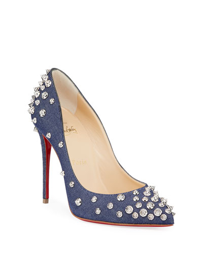 f721f6f321cf Aimantaclou Studded Denim Red Sole Pumps Quick Look. Christian Louboutin
