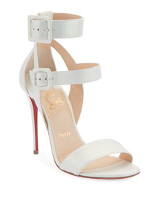 Multipot 100 Leather Red Sole Sandals by Christian Louboutin