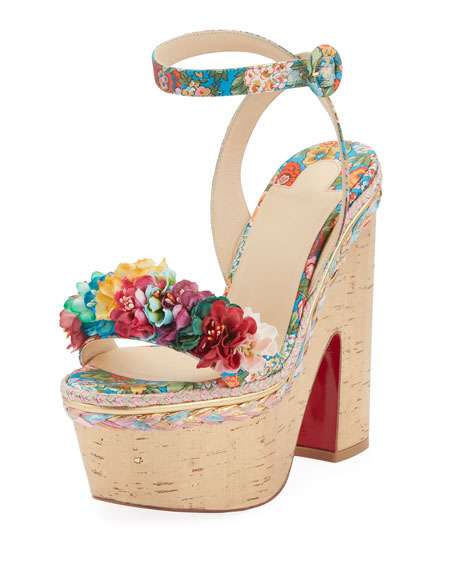 Christian Louboutin Arielle Sevillana Red Sole Sandals