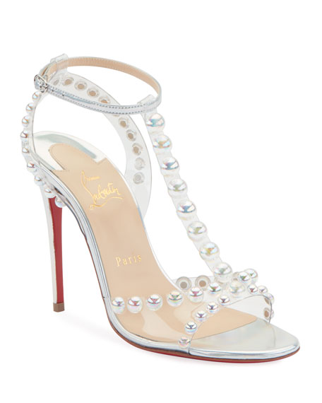 Christian Louboutin Faridavavie See-Through Vinyl/Metallic Red