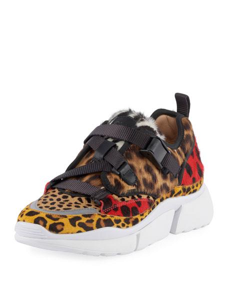 aa0604100c3 Chloe Animal Print Platform Sneaker