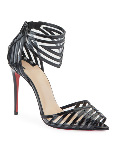 50a48cc83a78 Maratena 100 Patent PVC Red Sole Sandals Quick Look. Christian Louboutin
