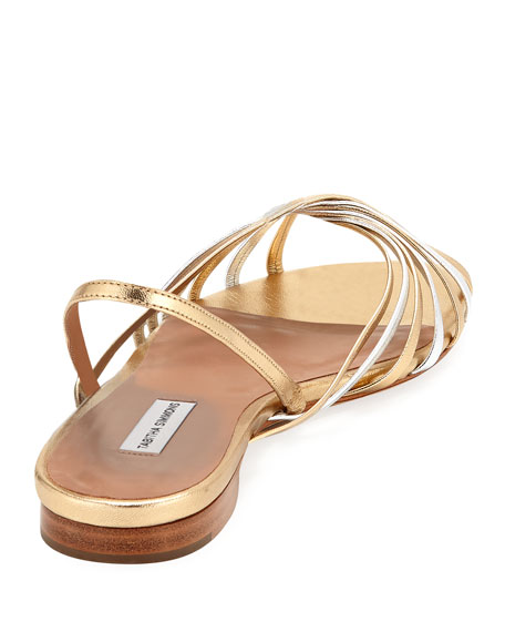 Noel Slingback Mixed Metallic Sandals