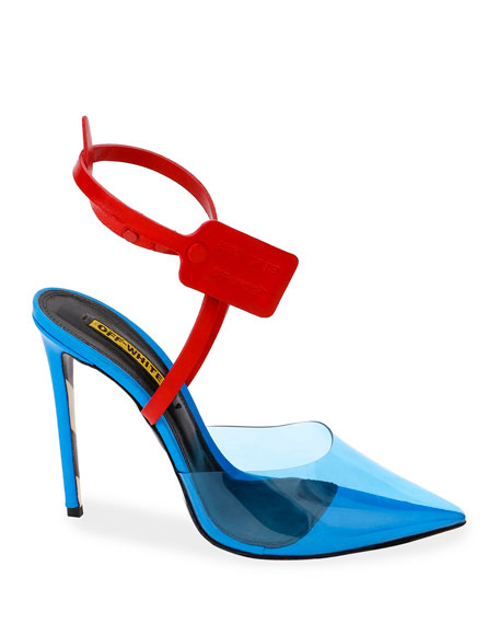 Zip-Tie Colorblock Mule Pumps